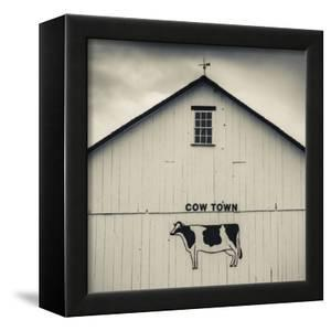 USA, Pennsylvania, Dutch Country, Smoketown, Barn with Cow Art by Walter Bibikow