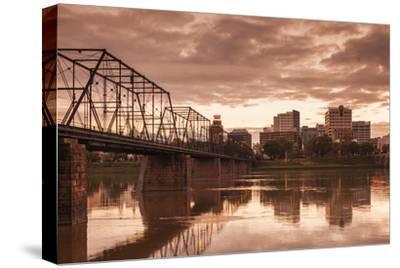 USA, Pennsylvania, Harrisburg, City Skyline from the Susquehanna River