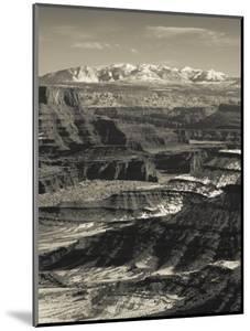 Utah, Moab, Canyonlands National Park, Buck Canyon Overlook, Winter, USA by Walter Bibikow