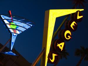 Vegas Neon Sign, Fremont Street East, Downtown, Las Vegas, Nevada, Usa by Walter Bibikow