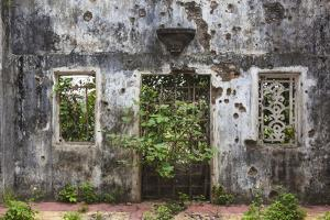 Vietnam, Dmz Area. Quang Tri, Ruins of Long Hung Church Destroyed During Vietnam War in 1972 by Walter Bibikow