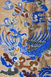 Vietnam, Hue Imperial City. Dien Tho Residence, Building Detail by Walter Bibikow
