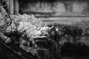 Vietnam, Hue, Royal Library Dragon Gargoyle, Close-Up by Walter Bibikow