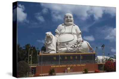 Vietnam, Mekong Delta. My Tho, Vinh Trang Pagoda, Giant Sitting Buddha Statue