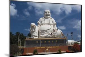 Vietnam, Mekong Delta. My Tho, Vinh Trang Pagoda, Giant Sitting Buddha Statue by Walter Bibikow
