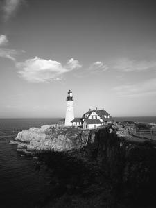 View of Lighthouse, Cape Elizabeth, Portland, Maine, USA by Walter Bibikow