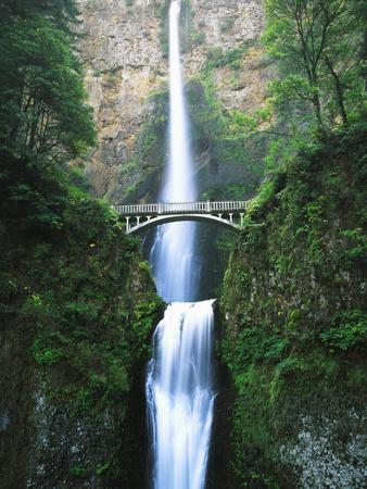 View of Multnomah Falls in Columbia Gorge, Oregon, USA