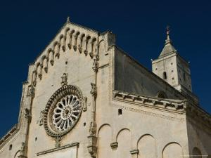 View of the 13th Century Duomo, Sasso Barisano, Basilicata, Matera, Italy by Walter Bibikow