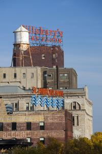 View of the St Anthony Main Area, Minneapolis, Minnesota, USA by Walter Bibikow