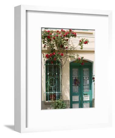 Village Doorway, Agiasos, Lesvos, Mytilini, Aegean Islands, Greece
