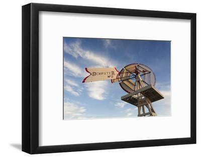 Vintage Farm Windmills at Sunset, Elk City, Oklahoma, USA