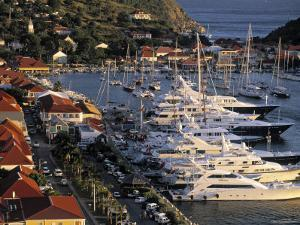 Yacht Harbour, Gustavia, St. Barts, French West Indes by Walter Bibikow
