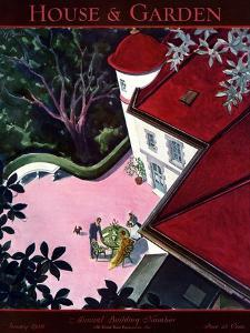 House & Garden Cover - January 1930 by Walter Buehr