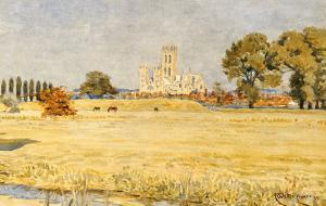 Canterbury Cathedral from the Meadows, 1894 by Walter Crane