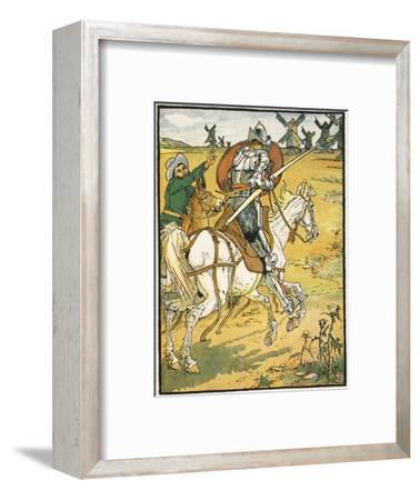 Don Quixote and the Windmills, Illustration from 'Don Quixote of the Mancha' Retold by Judge Parry