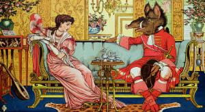 """Illustration from """"Beauty and the Beast,"""" circa 1900 by Walter Crane"""