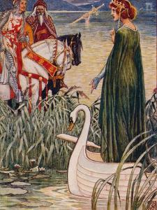 'King Arthur asks the Lady of the Lake for the sword Excalibur', 1911 by Walter Crane