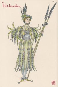 Lavender Personified by Walter Crane