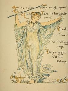 Masque of Flowers by Walter Crane