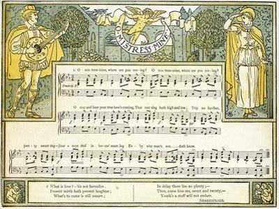O Mistress Mine, Where are You Roving?', Song from 'twelfth Night', Act II, Scene III,… by Walter Crane