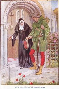 Robin Hood Coming to Kirkley Hall, C.1920 by Walter Crane