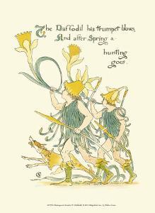 Shakespeare's Garden IV (Daffodil) by Walter Crane