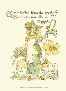 Shakespeare's Garden IX (Marigold) by Walter Crane
