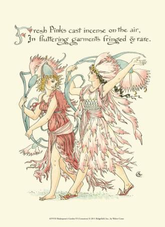 Shakespeare's Garden VI (Carnation) by Walter Crane