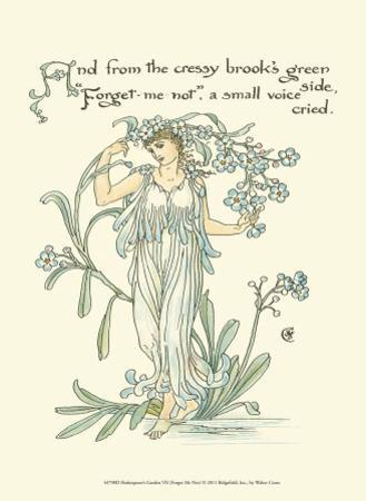 Shakespeare's Garden VII (Forget me not) by Walter Crane