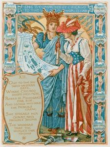She Is Conducted by Chicago to the World's Fair by Walter Crane