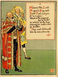 Shrove Tide, Lord Mayor's Day & April Fool Join In Drink by Walter Crane