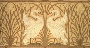 Swan Wallpaper Design by Walter Crane