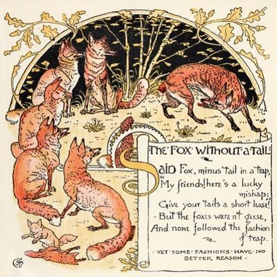 The Fox Without a Tail, Illustration from 'Baby's Own Aesop', Engraved and Printed by Edmund…