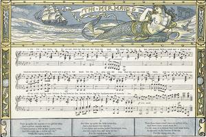 The Mermaid', Song Illustration from 'Pan-Pipes', a Book of Old Songs, Newly Arranged and with… by Walter Crane