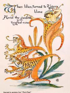 Tiger Lilies, Illustration from 'Flora's Feast' by Walter Crane, First Published 1889 by Walter Crane
