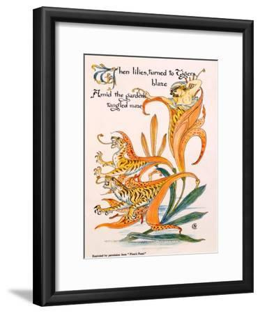 Tiger Lilies, Illustration from 'Flora's Feast' by Walter Crane, First Published 1889