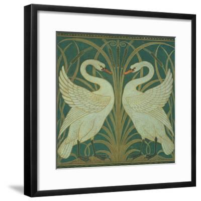 Wallpaper Design For Panel of Swan, Rush and Iris