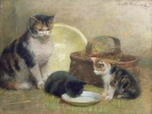 Cat and Kittens, 1889 by Walter Frederick Osborne