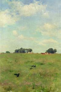 Field with Trees and Sky, or Landscape with Crows by Walter Frederick Osborne
