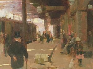Hastings Railway Station by Walter Frederick Osborne