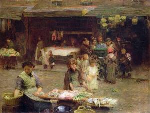 The Fishmarket, Patrick Street, 1893 by Walter Frederick Osborne