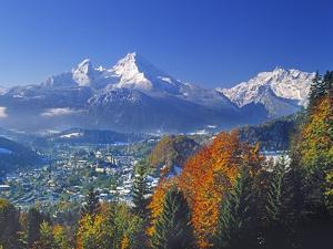 Berchtesgaden and Mount Watzmann by Walter Geiersperger