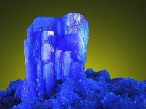 Blue Chalcanthite Mineral in Matrix by Walter Geiersperger