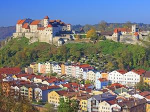 Village Burghausen, Germany by Walter Geiersperger