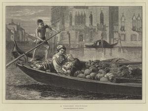 A Venetian Fruit-Boat by Walter Goodall