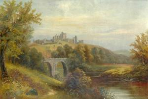 Bridge and Castle, 1801 by Walter Linsley Meegan