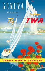Geneva, Switzerland - Fly TWA (Trans World Airlines) by Walter Mahrer