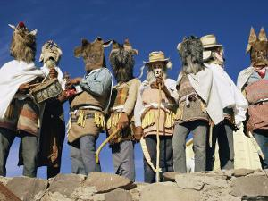 Mayo Indians Dressed in Costumes for a Religious Celebration by Walter Meayers Edwards