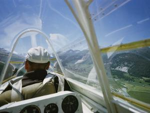 View Inside a Glider Floating Above the Inn Valley by Walter Meayers Edwards