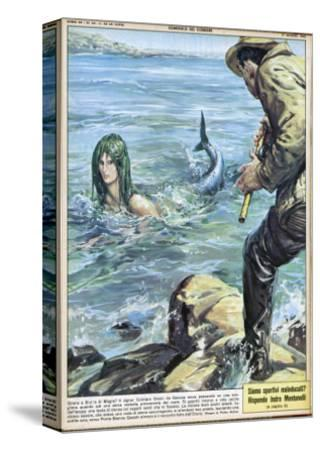 At Bocca di Magra Italy Fisherman Colmaro Orsino of Genova Sees a Mermaid